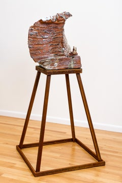 Large ceramic wood-fired sculpture: 'Apparition '