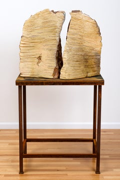 Large scale wood-fired ceramic sculpture: 'Voice '