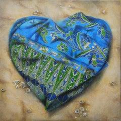 """""""Exploration of Love #5"""", Batik sarong in folding heart-shaped, Nyonya Baba"""