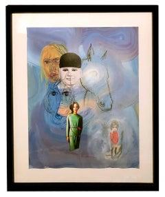 "Contemporary American Original Painting Tony Oursler ""Horse Sense"" 2018"