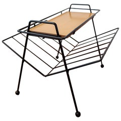Tony Paul Magazine Rack Removable Tray Table, 1950s