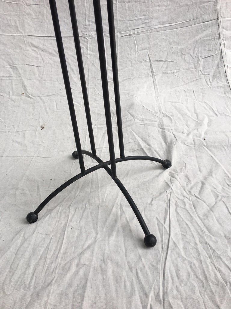 Mid-Century Modern Tony Paul Style Glass and Iron Table For Sale