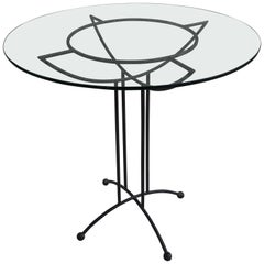 Tony Paul Style Glass and Iron Table