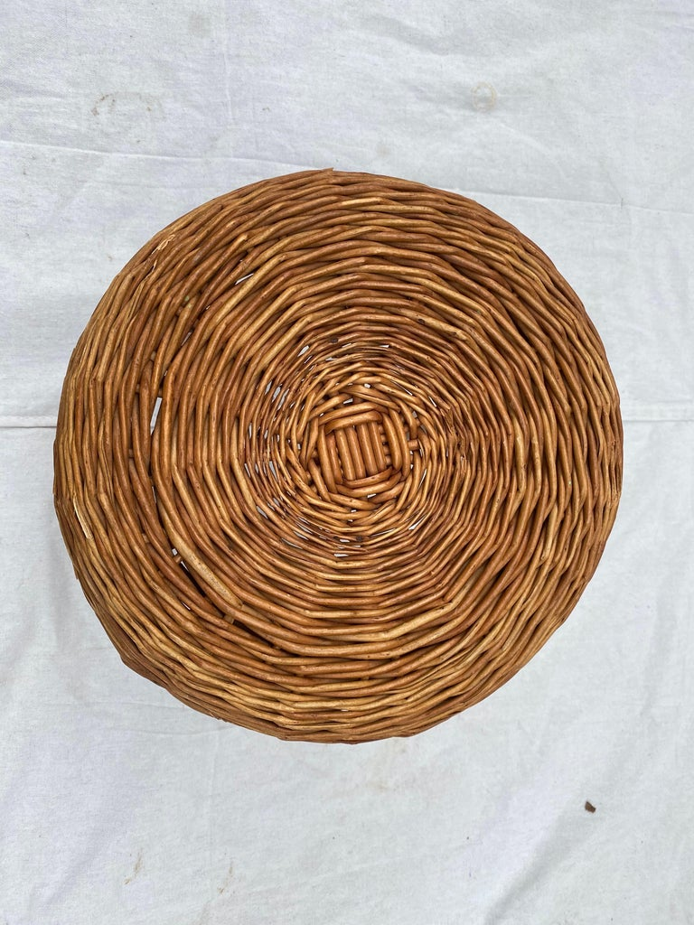 Dutch Tony Paul Wicker Stool