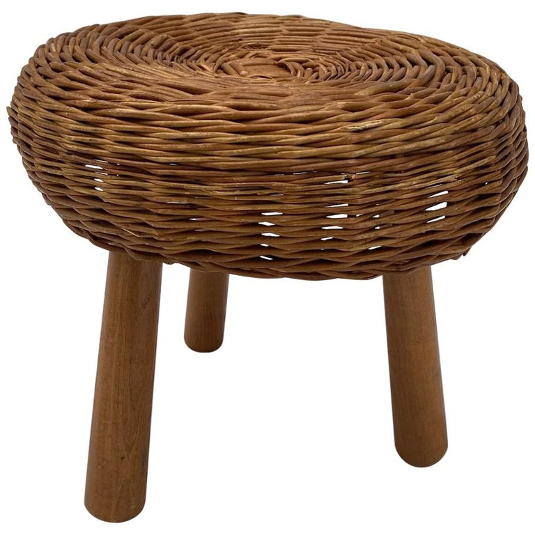 Tony Paul Wicker Stool