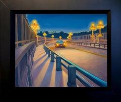 Night Bridge; Colorado Street Bridge, Pasadena
