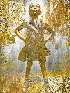 Fearless Girl, Mixed Media on Canvas