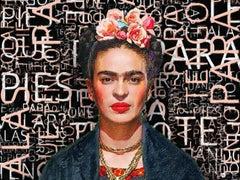 Frida Kahlo, Mixed Media on Canvas