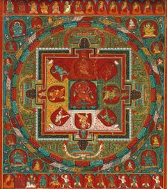 Rubino Yoga Mandala 2, Mixed Media on Canvas