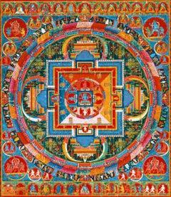 Rubino Yoga Mandala 3, Mixed Media on Canvas