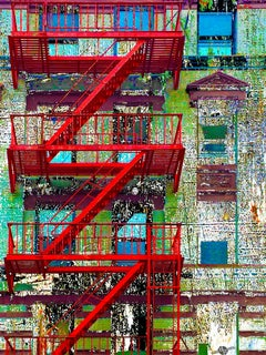 Fire Escape New York City, Painting, Acrylic on Canvas