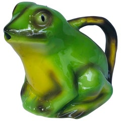 Tony Wood Art Pottery Frog Creamer or Pitcher