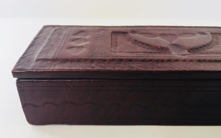 Vintage Tuareg leather jewelry box.