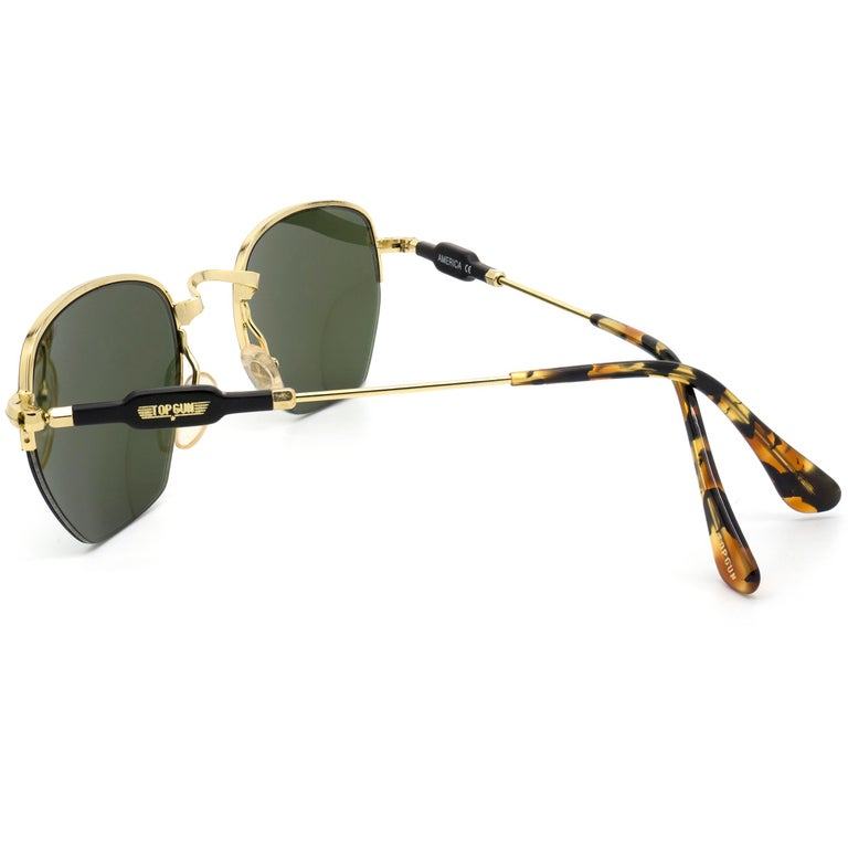 Top Gun® geometrical vintage sunglasses, Italy 90s In New Condition For Sale In Feasterville Trevose, PA