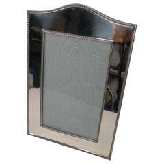 Top Notch Large English Sterling Silver Photograph or Picture Frame, 1910
