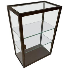 Top Quality Antique Brass & Glass Display Cabinet for Rolex / Jewelry Collection