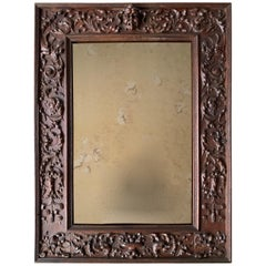 Top Quality Hand Carved Antique Renaissance Revival, Wide Framework Wall Mirror