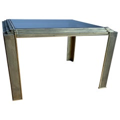 Top Quality Made Mid-Century Modern Bronze Coffee Table with Smoked Glass Top