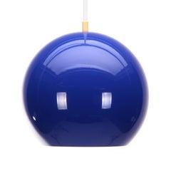 Topan Blue Space Age Lamp by Verner Panton Louis Poulsen, 1967