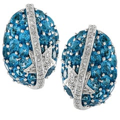Topaz And Diamond Earrings