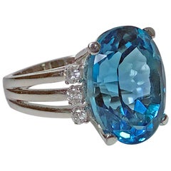 Topaz and Diamond Ring, 20th Century