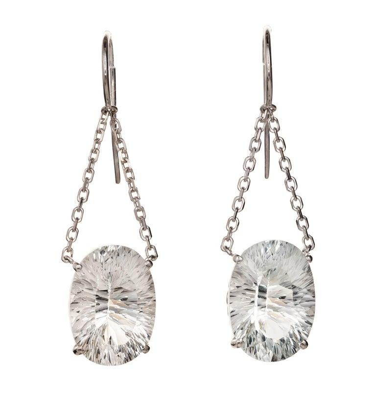 Peter Suchy 22.50 Carat Topaz Gold Dangle Earrings