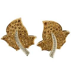 Topaz Diamond Gold Earrings