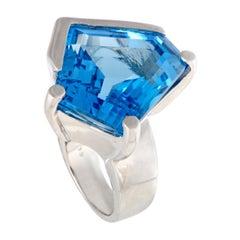 Topaz Platinum Cocktail Ring