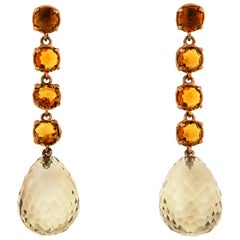 Topaz Rose Gold Earrings Handcrafted In Italy by Botta Gioielli