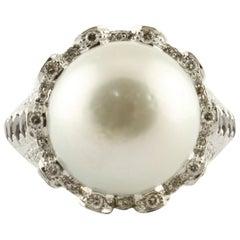 Topazes Iolites Tourmalines Diamonds Australian Pearl White Gold Ring