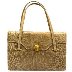 Tope Crocodile Vintage Italian Handbag