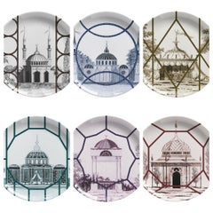 Topkapi Set of 6 Dessert Plates Made in Italy