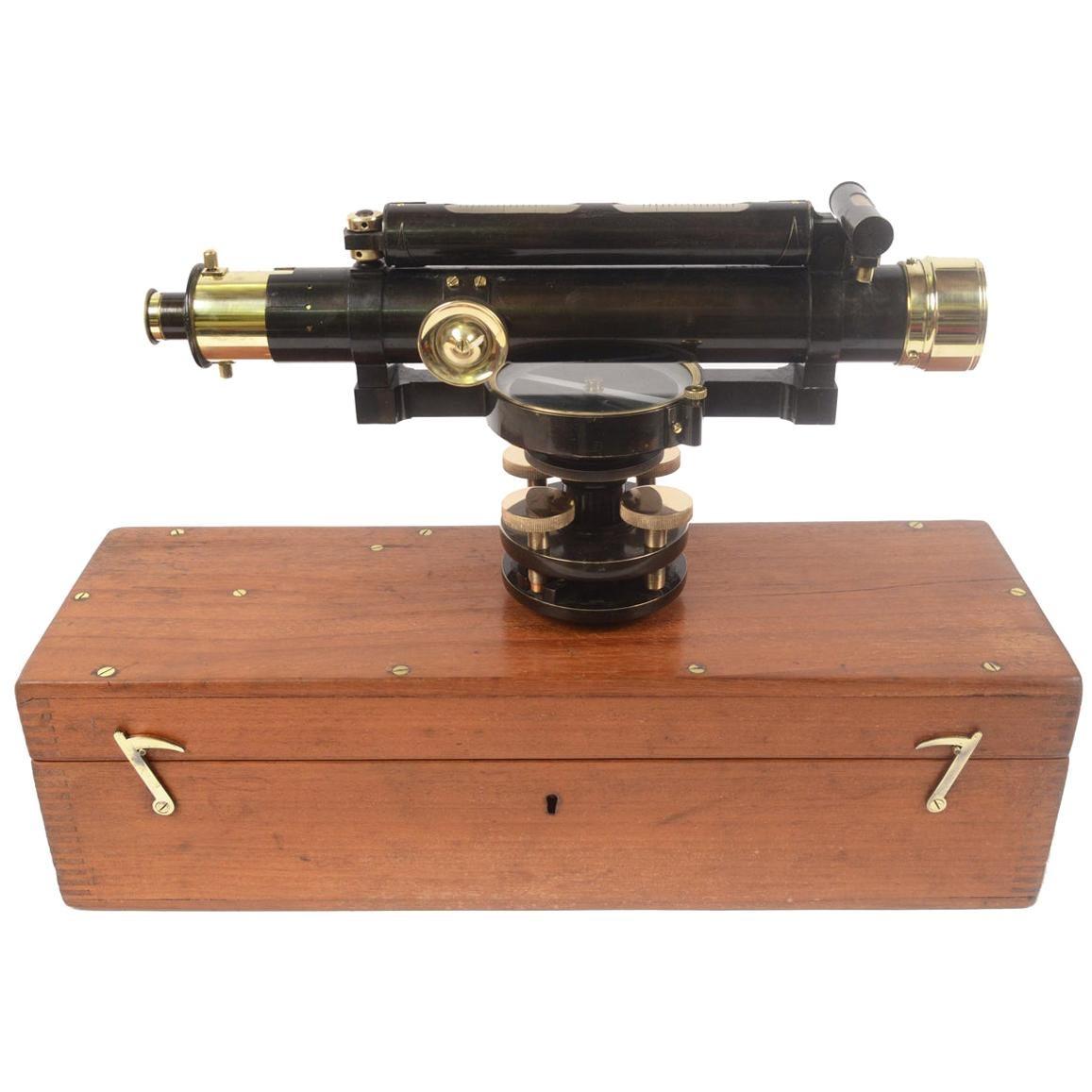 1870 Antique Burnished Brass W F Stanley Level Surveyor Measurement Instrument