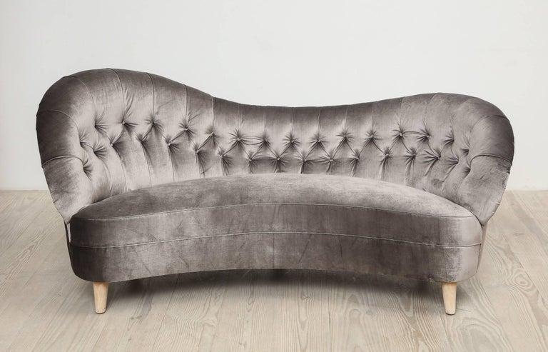 Tor Wolfenstein, Organic Shaped Sofa, Circa 1940, Origin: Sweden For Sale 4