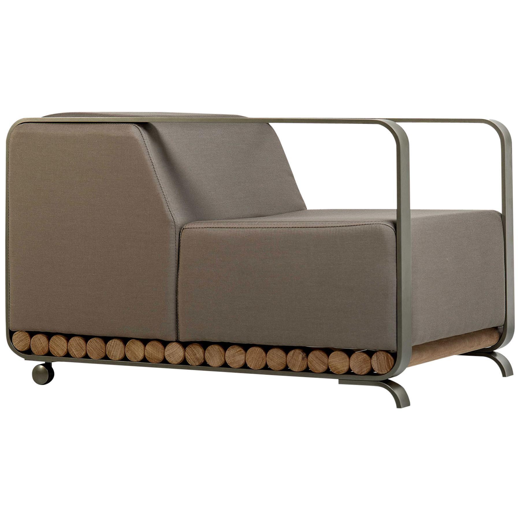 """Toras"" Armchair in Solid Hardwood, Arthur Casas, Contemporary Brazilian Design"