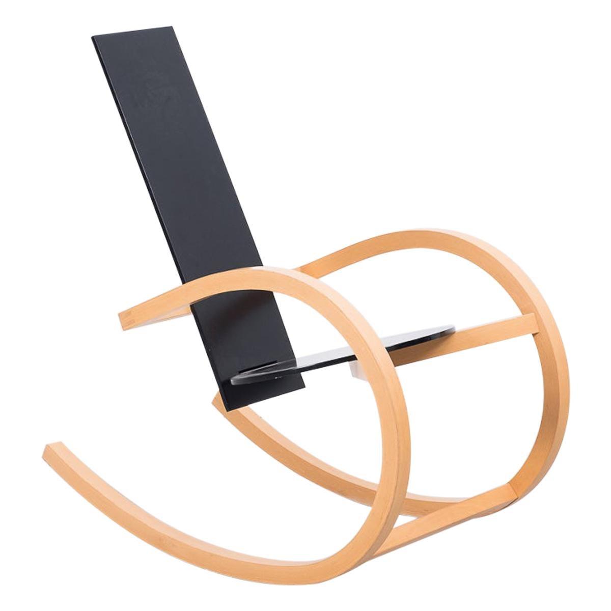 Torben Skov Black Rocking Chair