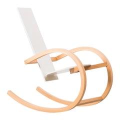 Torben Skov White Rocking Chair