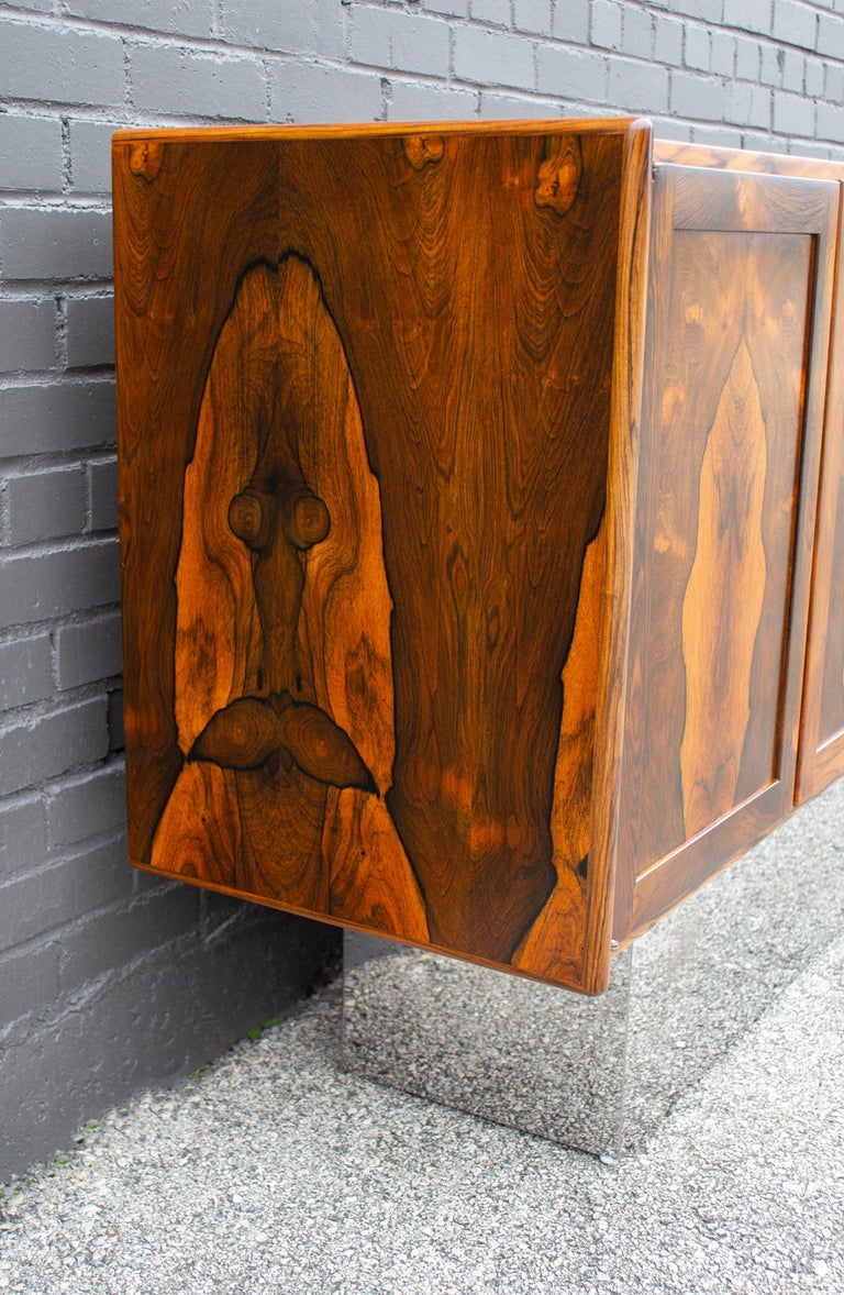 Torbjorn Afdal Book-Matched Brazilian Rosewood Cabinet for Bruksbo of Norway For Sale 5