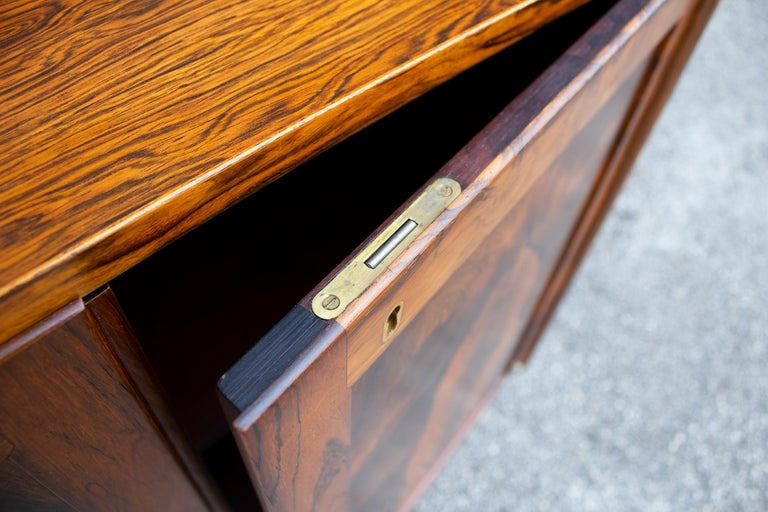 Torbjorn Afdal Book-Matched Brazilian Rosewood Cabinet for Bruksbo of Norway For Sale 1