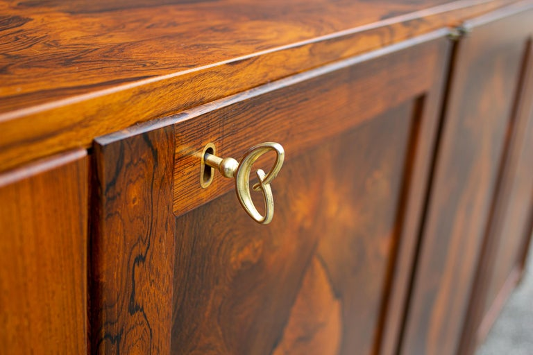 Torbjorn Afdal Book-Matched Brazilian Rosewood Cabinet for Bruksbo of Norway For Sale 3
