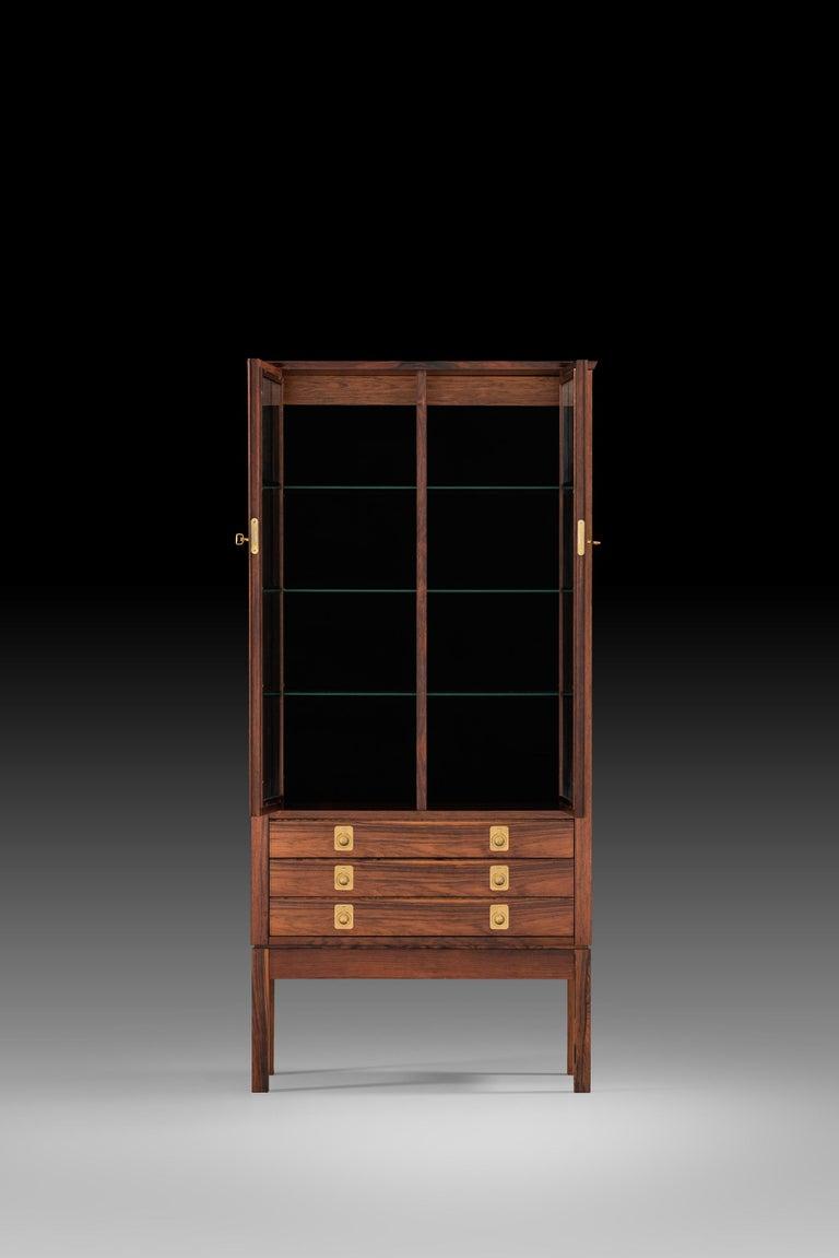 Rare cabinet attributed to Torbjørn Afdal. Produced by Mellemstrands møbelfabrik / Bruksbo in Norway.