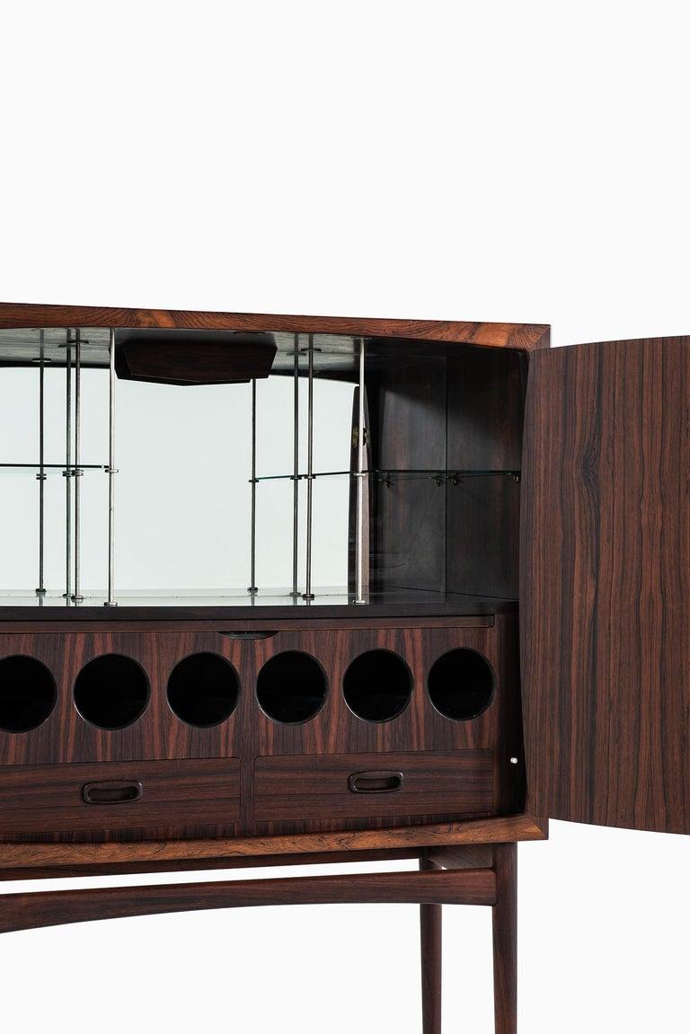 Rare bar cabinet model Bacchus designed by Torbjørn Afdal. Produced by Mellemstrands møbelfabrik in Norway.