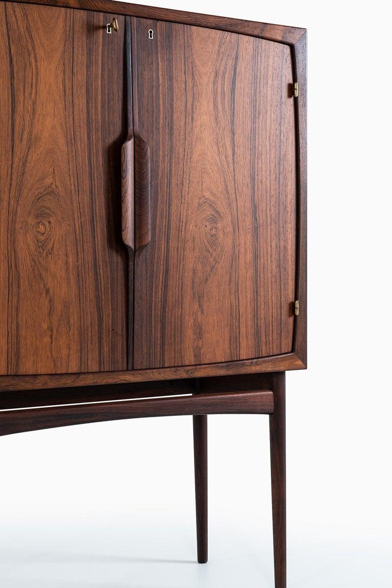 Rosewood Torbjørn Afdal Bar Cabinet Model Bacchus by Mellemstrands Møbelfabrik in Norway For Sale