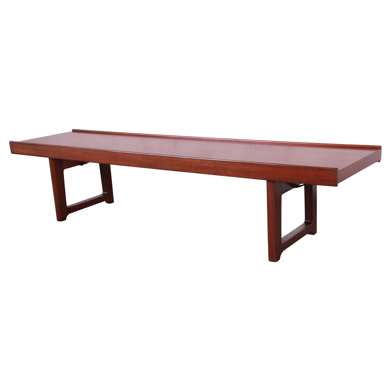 "Torbjørn Afdal for Bruksbo ""Krobo"" Teak Coffee Table or Bench, Newly Refinished"