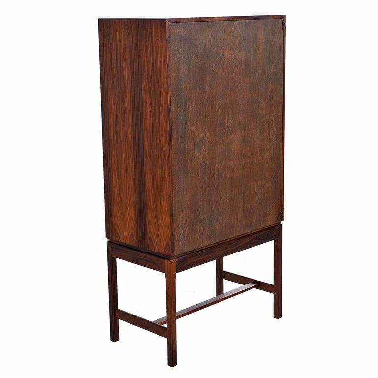 Torbjørn Afdal for Bruksbo Lighted Rosewood Liquor Cabinet Bar Cabinet For Sale 4