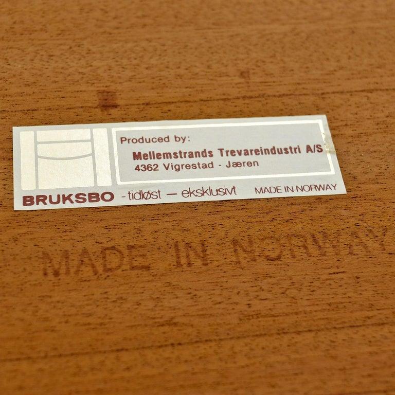 Torbjørn Afdal for Bruksbo Lighted Rosewood Liquor Cabinet Bar Cabinet For Sale 5