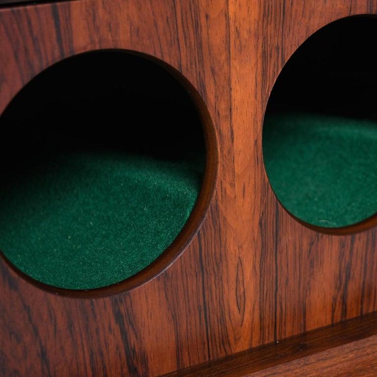 Mid-20th Century Torbjørn Afdal for Bruksbo Lighted Rosewood Liquor Cabinet Bar Cabinet For Sale