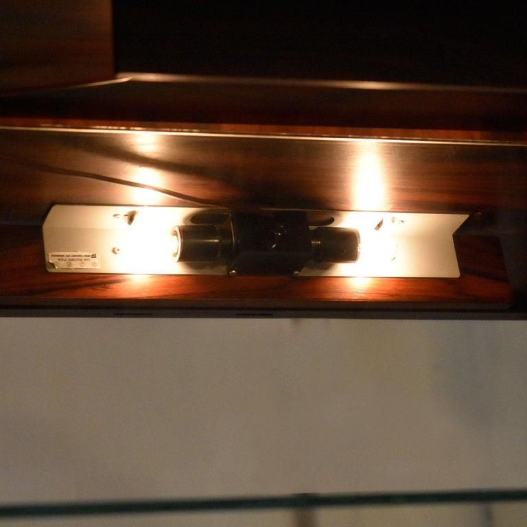 Torbjørn Afdal for Bruksbo Lighted Rosewood Liquor Cabinet Bar Cabinet For Sale 1