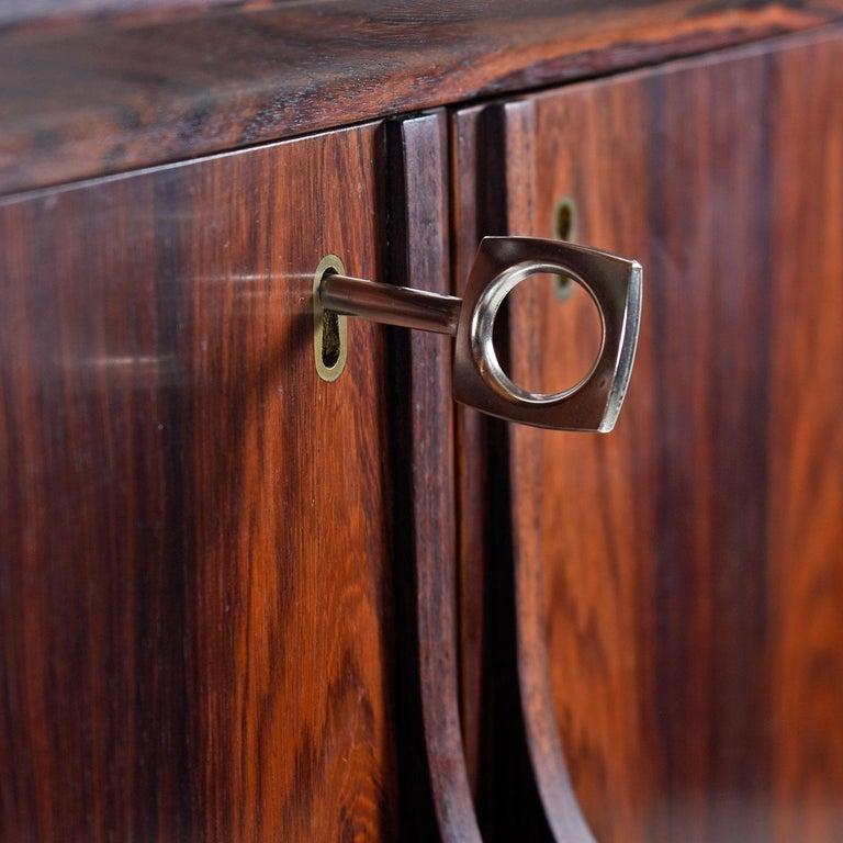 Torbjørn Afdal for Bruksbo Lighted Rosewood Liquor Cabinet Bar Cabinet For Sale 3