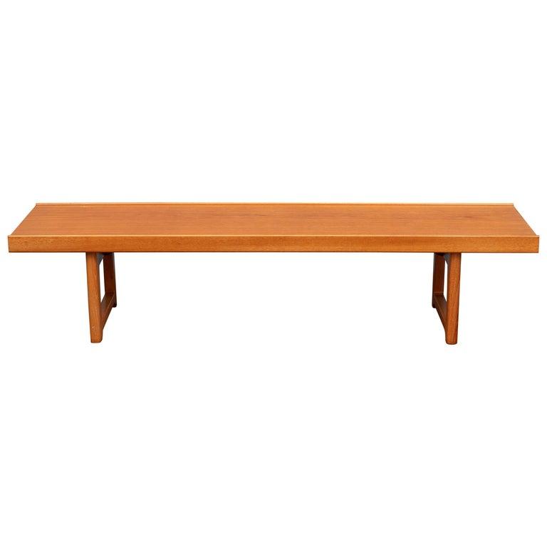 """Torbjørn Afdal """"Krobo"""" Teak Bench or Coffee Table For Sale"""